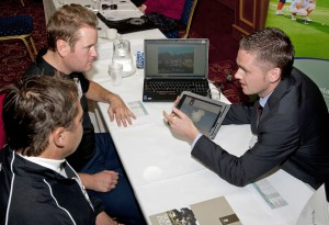 Denis Murphy, Fota Island Golf Resort, is pictured at the Golf Workshop, organised by Fáilte Ireland, in the Portmarnock Hotel, Dublin, where a number of top Nordic teaching professional golfers were invited to Ireland to meet with Ireland's golf industry, to pitch to the Nordic professional golfers to gain business for the year ahead.  [Photo: Derek Cullen, Fáilte Ireland]