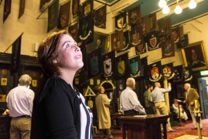 Denise Buckley from Douglas in Corks Masonic Lodge as part of Cork Heritage Open Day.  Pic Darragh Kane.
