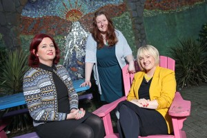 DC 15/12/2015 - REPRO FREE FREE PIC In solidarity with women who are homeless: Broadcaster Deirdre O'Shaughnessy chats with Cork Simon's Colette O'Brien and Karen Songhurst ahead of Cork Simon's Women's Christmas Lunch on 09 January at Maryborough House Hotel where Deirdre, Colette and Karen will discuss issues around homelessness specific to women. All funds raised from the lunch will go towards women's services at Cork Simon. Tickets available from Cork Simon: 021 4929410. Pic: Diane Cusack