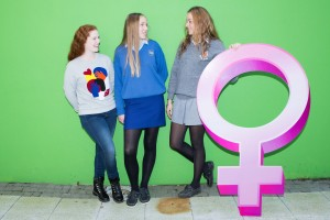 DKANE  08/12/2015 REPRO FREE Anna NcKenna, Scoil Mhuire Wellington rd, Mary Leneghan, Christ King and Rachel Martin, Midelton College at the launch of a 2-DAY I WISH EVENT SET TO INSPIRE A GENERATION OF GIRLS TO LEAD THE WAY IN SCIENCE, TECHNOLOGY, ENGINEERING AND MATHS (STEM): There are not enough women entering into Science, Technology, Engineering or Mathematics (STEM) fields. In 2014 just 17% of entrants to third level courses in ICT were female. Similarly only 24% of Engineering entrants are female. The situation is even more alarming in Maths, with just 22 percent of female entrants in 2014 compared to 35% in 2004. I WISH aims to change the status quo with an ambition to increase female entrants to third level courses in STEM to 30% by 2020.  Pic Darragh Kane.