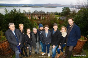 REPRO FREE10/01/2016, Bantry, Co Cork – Scenes from a major Belgian thriller caller 'Broer' (meaning 'Brother') were premiered in Bantry House. Starring Alison Doody, the film was shot on location in Bantry and West Cork during 2015 and will go on release in Belgium on 20 January. Tourism Ireland in Brussels intends to capitalise on the release of 'Broer' later this month.PIC SHOWS: Pierre De Clercq (screenplay); actors Alison Doody and Elva Trill; Mariano Vanhoof (producer); actors Koen De Graeve, Titus De Voogdt, Koen De Bouw and Daisy Van Praet; and Geoffrey Enthoven (director), at Bantry House. Pic – George Maguire (no repro fee)Further press info – Sinéad Grace, Tourism Ireland 087 685 9027