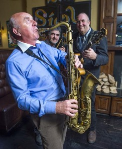 Free Pic no repro fee Harry Connolly (sax), Ian Date (guitar) and Niall Marron (drums) at the announcement of a new monthly jazz session at The Shelbourne Bar on MacCurtain Street.  Dubbed 'The Guinness Jazz Jam', the first live event swings into action on Thursday 18th February from 9.30pm.  www.theshelbournebar.comPictures by Gerard McCarthy 087 8537228  more info contact  Niamh Murphy Hopkins PR     0214272200     0870617705
