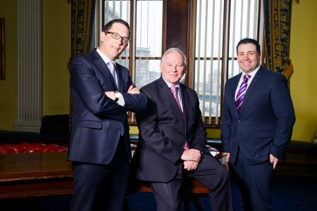 "JC 22/03/16 REPRO FREE Conor Healy, Chairperson Cork Chamber of Commerce, Brendan Keating, CEO Port of Cork and Pádraic Vallely CEO Cork Foundation at the launch of the joint networking event ""Corporate Giving - Good for Business"" in association with Cork Foundation and Philanthropy Ireland which will take place in the Port of Cork on April 14. More informaiton on corkfoundation.com Photo Joleen Cronin"
