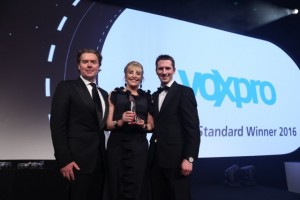 Voxpro - Founders Dan and Linda Kiely at a recent award ceremony