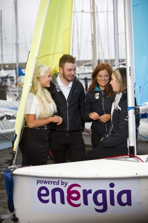 UCD Sailing Club won the annual UCD Vs TCD Colours Championship which was held in Dun Laoghaire on Saturday 2nd April. Pictured are Michelle Kells, Energia, Club Commodore Robbie Hynes, Sian Kneafsey from Dartry and Cliodhna Connolly from Baltimore, Co Cork