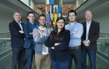 Free Pic no repro fee  Eamon Curtin from  IGNITE Graduate Business Innovation Programme , Richard Barrett Pundit Arena , Danny O'Donovan SUPP, Alpa Agrawal Allmin Resources Ireland Ltd, Ross O'Dwyer Pundit Arena and  Chair Aodan Enright from Smarter Egg pictured at the IGNITE Graduate Business Innovation Programme Information Evening at UCC's Western Gateway Building. Pictures by Gerard McCarthy 087 8537228   more info contact Alison O'Brien     Fuzion Communications     021 4271234  086 3879388