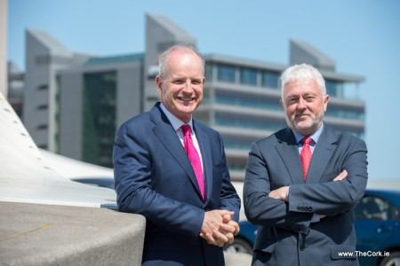 :Joe Aherne, CEO, Leading Edge Group (right) pictured with newly appointed Director Pat Byrne at the announcement today in Dublin that the firm is creating 10 new jobs in business development, international marketing and client services.  Photo: Barry Cronin