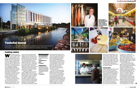 """May 2016 – An article showcasing Cork and its """"Corking Cuisine"""" appears in the latest edition of a British magazine, profiling the city to some 42,000 readers – or potential British holidaymakers for Cork and Ireland. Director is a magazine targeting entrepreneurs and business leaders across Britain and Tourism Ireland in London, in conjunction with Fáilte Ireland, invited journalist Chris Maxwell to visit Cork last year.  Further info: Sinéad Grace, Tourism Ireland Tel: 087-685 9027"""
