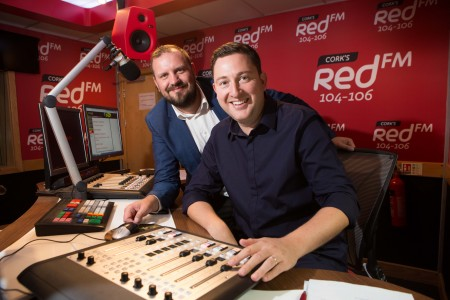 DJs KC and Ray Foley in the Red FM Studios. DJ Ray Foley Makes a Return to the Airwaves with CorkÕs Red FM Popular Radio and TV Presenter Ray Foley is making a return to radio this summer with CorkÕs Red FM. Starting on July 2nd Ray Foley will be waking up the people of Cork for a special 12 week series every Saturday between 7am & 10am. An award winning DJ, Ray Foley who is currently a presenter on the 7 OÕclock Show on TV3 is excited about the move saying ÒIÕm delighted to be joining CorkÕs number one radio station! IÕve been a fan of Red FM for many years because theyÕre one of the best radio stations in the country.Ó Ray Foley will be very familiar to the people of Cork having presented his very popular self-titled lunchtime show on Today FM for 6 years and also the Irish version of Take Me Out on TV3. Ray Foley will be also be joining his old Today FM colleague at Red FM ÒKC is an old buddy of mine so when he suggested coming on board for Saturday mornings I couldnÕt believe it! Of course I said yesÓ. KC (Keith Cunningham) who is also the programme director was in great humour at the announcement Òafter receiving 600 daily demos from Ray, we have decided that itÕs time to give him a slot. Foley is a super talent on air. Delighted to have him with Corks Number 1 stationÓ.  The announcement of Ray Foley comes two years after Neil Prendeville made a move across the city and KC moved back from Dublin, resulting in CorkÕs Red FM becoming the no1 radio station in Cork. Speaking about the latest addition CEO Diarmuid OÕLeary added that ÓCorkÕs Red FM is delighted that Ray Foley is going to be entertaining our listeners on Saturday mornings for the summer Ð we canÕt wait to hear him back on the radio from this weekendÓ. Ray Foley who won 3 Meteor Awards and 5 PPI awards will bring a fresh sound to Saturday mornings in Cork. ÒI've had many brilliant Friday nights out in Cork city, so I should apologise in advance for waking everybody up on Saturday morning. I promise I'