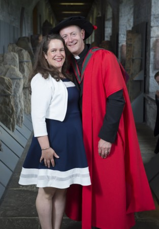 Free Pic no repro fee  Reverend Daniel Nuzum chaplain of  CUH ,PHD in impact of stillbirth with his Wife Heather  from Carragaline Pictured at University College Corks College of Medicine and Health June Conferring's. Professor Brian O'Connell, Professor of Restorative Dentistry and Director of Postgraduate Prosthodontics at Trinity College Dublin, delivered the conferring address to students' from the School of Nursing and Midwifery, School of Medicine, School of Occupational Therapy and Clinical Sciences and Cork Dental School and Hospital received degrees on Thursday June 16th . Pictures by Gerard McCarthy 087 8537228   For more information contact Kate McSweeney 087 6150199