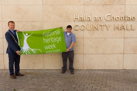HeritageWeekLaunch L-R The Mayor of The County of Cork Cllr Seamus McGrath and CCC HeritageOfficer Conor Nelligan  NO REPRO FEE