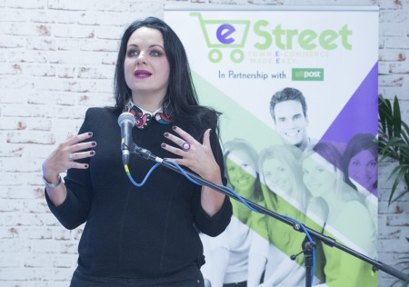 free pic no repro fee Triona McCarthy TV3 Expose  pictured as The Ludgate HUB with support from An Post launched eStreet. eStreet is a website that allows small  retailers the opportunity to reach a global audience by selling on one online platform together. It is especially useful for consumers as all the items ordered from the different stores are shipped together.Skibbereen is the first town in Ireland to pilot the eStreet initiative and 11 retailers in the town have already signed up to it.  Photography by  Gerard McCarthy 087 8537228 more info contact  Richard Brophy  Insight Consultants 01 29 39 977    01 29 39 952    086 385 32 60