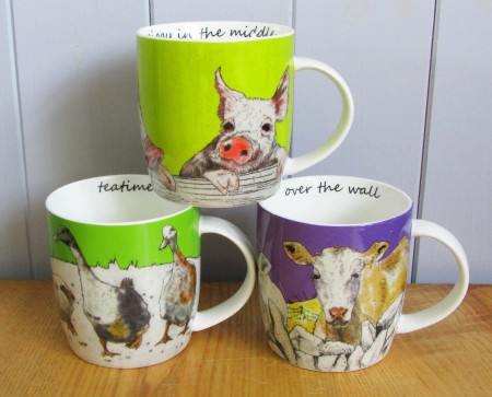 Farmyard boxed set of four mugs by Annabel Langrish (€40) available at stands 3 and 4 at the 25th City Hall Crafts and Design Fair in Cork from November 24-27. Full details and booking can be found at www.cityhallcraftsfair.ie.